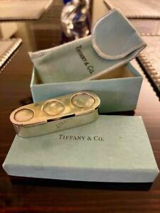 Vintage Tiffany & Co Makers Sterling Silver Triple Coin Holder Magnetic w/ Pouch