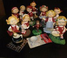 Lot of 10 Campbell Kids Figurine Danbury Mint plus bonus!