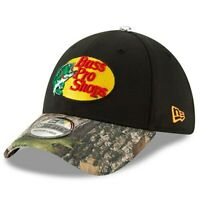 New Era Martin Truex Jr Black/Camo 39THIRTY Bass Pro Shops Driver GCP Flex Hat