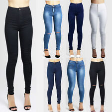Ripped, Frayed High Slim, Skinny Jeans for Women