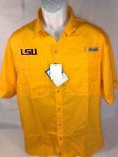 "LSU  Columbia ""Collegiate Tamiami II""  Short Sleeve Shirt  Size:  Extra Large"