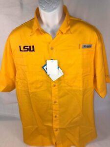 "LSU  Columbia ""Collegiate Tamiami II""  Short Sleeve Shirt  Size:  Small"