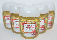 5 BATH BODY WORKS SWEET STRAWBERRIES CREAM POCKETBAC ANTI BAC HAND GEL SANITIZER
