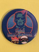 "Vintage I'm a Party Monster Frankenstein Pinback Button 3"" Doritos Ruffles Chips"