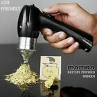 New Easy 420 Herb Spice Tobacco Electric One Hand Grinder Battery Operated Black