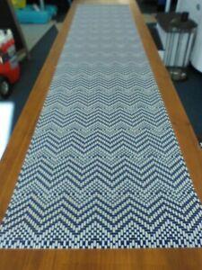 """Navy blue table runner 6' by 15"""" vinyl"""