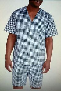 Fruit of the Loom ` Big Men's Short Sleeve, Knee-Length Pant Pajama Set ~ sz 2XL