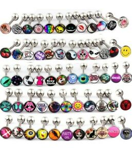 50 Pc Barbell Tongue Rings Surgical Steel