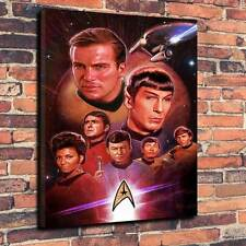 "Classic Star Trek Printed Canvas A1.30""x20""~Deep 30mm Frame science fiction"
