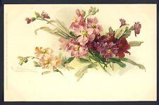 POSTKARTE Meissner & Buch Illustration Litho C. KLEIN BLUMEN FLOWERS FLEURS 1