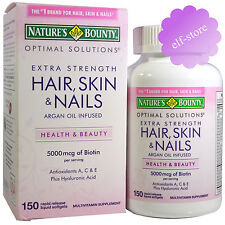 Nature's Bounty Optimal Solutions Hair, Skin & Nails Extra Strength 150 Softgels