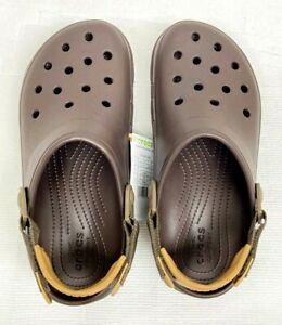 Crocs Classic terrain Clog/Slip on Casual Water shoes, espresso US size(W11-M9)