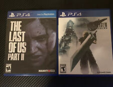 final fantasy 7 remake and the last of us pt2 Ps4 game lot