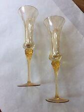 Elegant Vintage Champagne Flute set of 2