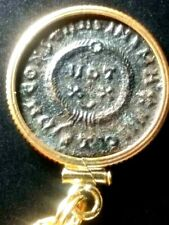 Constantine Great Wreath/Cross  Ancient Roman Coin Gold-Filled Necklace Pendant