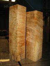 2 FIGURED BIG LEAF MAPLE WOOD TURNING LUMBER 3 x 3 x 12 - 13+  PEPPERMILL BLANK