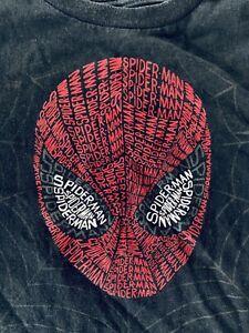 Disney Store Marvel SPIDERMAN Face shirt, boys 10/12 Youth Size Large