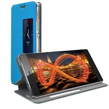Coque Etui Pour Huawei Ascend P8 Slim Folio Fonction Smart View Bleu