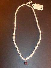 "18"" CULTURED PEARL NECKLACE w/STERLING SILVER PENDANT *NEW w/TAG*"