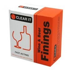 Wine & Beer Finings For Home Brew Fast Acting Treats up to 270 Litres Clear It