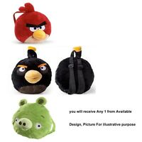 Angry Birds 'Red, Black, Green' Assorted Plush School Bag Rucksack Backpack
