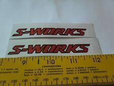 """Specialized  S-WORKS sticker 4"""" clear background bike decal sticker x 2 pieces"""