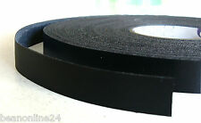 Black Melamine Edge Tape 21mm x 50m Pre-Glued Iron On Veneer Edging Laminate