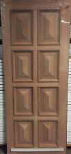 External 8 Panel Cricket Bat and Heavy Moulding Timber Door