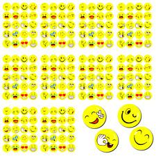 200 x Smiley Face Sticker Verschiedene Stimmungen Kinder Geburtstag Scrapbooking