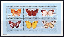 CHAD 2003 BUTTERFLIES SHEET OF 6 DIFFERENT SCOTT 968