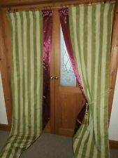 """HUGE Moire Silk Curtains 96""""Drop Blackout & Interlined.Dress Curtains. Free Post"""