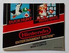 Notice SEULE PAS DE JEU Nintendo Nes MARIO DUCK HUNT FAH originale