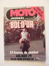 Moto Journal Septembre 1979 N°426 Bol d'Or Szuki 1000 GS S