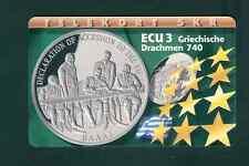 DENMARK. PHONECARD. ECU 3. GREEK DRACHMA 740. GREEK ACCESSION. 7/1997.700 COPIES