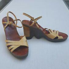 1970s Hi Up Famolare Vintage Shoes Wavy Sole Size 8.5