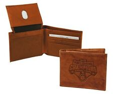 Clemson Tigers 2018 Champions Premium Leather Bifold Wallet Billfold University