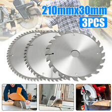 AU 3PC 210mm Circular 30MM Saw Blades 24T,48T,60Teeth BORE With 3 Reduction TCT