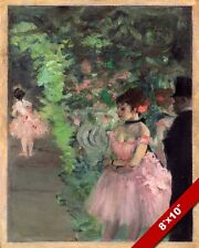 BALLERINA DANCERS BACKSTAGE FRENCH PAINTING EDGAR DEGAS ART REAL CANVAS PRINT