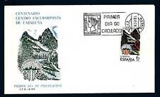 SPAIN - SPAGNA - 1976 - Centenario del Centro Escursionista di Catalogna - FDC