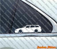 2X Lowered car Outline stickers- For Alfa Romeo 156 sportwagon L007