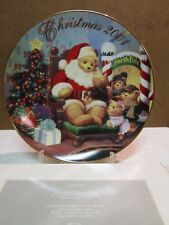 "Avon Fine Collectibles ""A Visit With Santa"" 2001 Christmas Decorative Plate New"