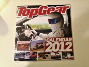 Top Gear 2012 calendar, Stig cover, mint condition, still in original wrapper.