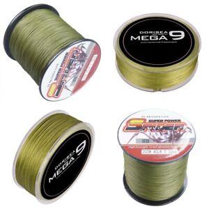 Spider Braid Dyneema 100M-2000M 10LB-300LB Fishing Braid Carp Line Army Green