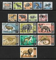 1966 Queen Elizabeth II SG20 to SG35 Animal Set of 16 Stamps Fine Used KENYA