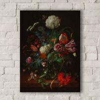 Jan Davidsz de Heem: Vase of Flowers. Fine Art Canvas