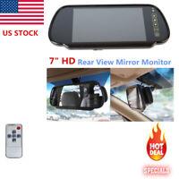 "US 7"" LCD TFT Color Screen Car Reverse Rearview Backup Camera DVD Mirror Monitor"