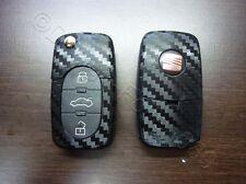 Carbon Schwarz Dekor Schlüssel Folie  Seat leon Golf Passat VW  Bora Polo Skoda