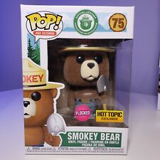 Funko Pop # 75  Smokey Bear  Flocked  Hot Topic Exclusive  Ad Icons