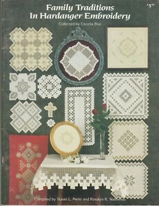 Family Traditions in Hardanger Embroidery pattern book - 15 designs - 1990