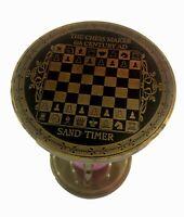 "Antique Brass Chess Sand Timer 6"" Nautical Maritime Vintage Hourglass Desk Decor"